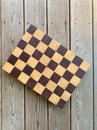 Purple Heart + Ash End-Grain Cutting Board