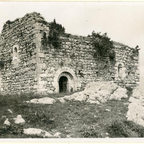 Ermita de santa Margarida de Coll d'Ares, que va servir d'hospital de ferits.
