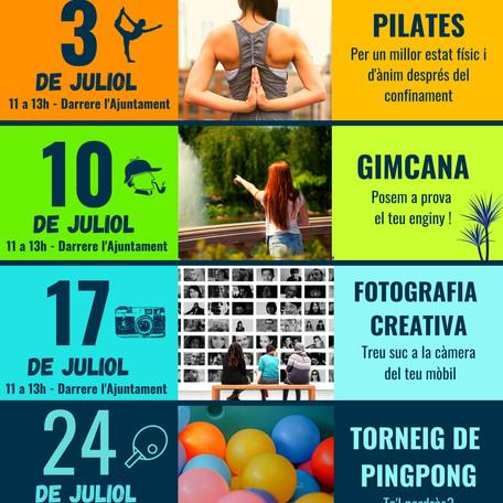 Juliol Jove: activitats d'estiu pel jovent de 12 a 17 anys