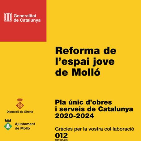 Adjudicades les obres de Reforma de l'Espai Jove per import de 174.038,26€