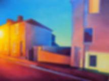 Urban scene - Salisbury - Oil on hardboard panel (16 x 12 inches)