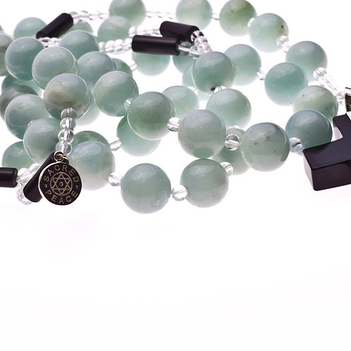 Milky Jade Sacred Peace Blessing Beads