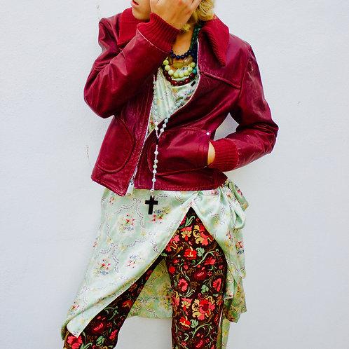 Velvet floral pants
