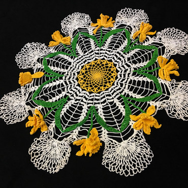 """Hi, I really do not know anything about the doily all I can tell you is my mother bought it used many years ago probably in the 1980's."