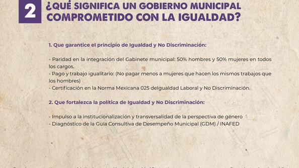 Gobierno Municipal comprometido con la Igualdad