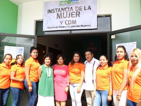 Inauguraron las instalaciones del Centro para el Desarrollo de las Mujeres (CDM) de Emiliano Zapata.