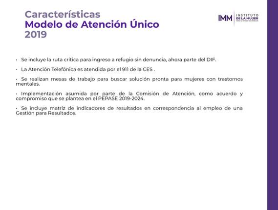 Características MAU 2019