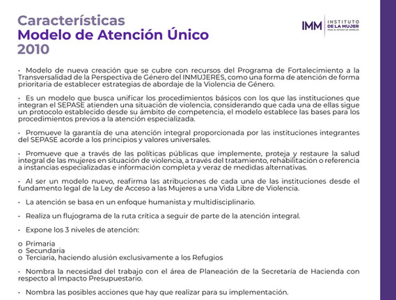 Características MAU 2010