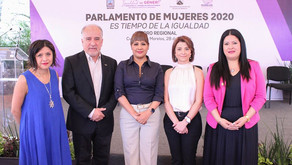 Inauguración del último día de trabajos del Parlamento de Mujeres 2020.
