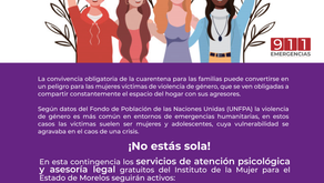Continúan servicios de atención a mujeres en contigencia sanitaria
