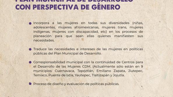 Plan Municipal con perspectiva de género