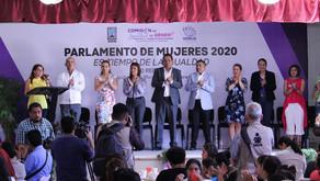Arranque de las mesas de trabajo del Parlamento de Mujeres en #Morelos 2020.