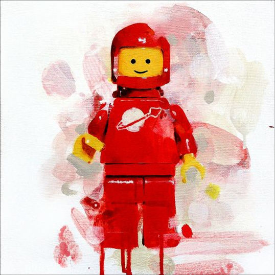 Lego minifigure Red spaceman print by James Paterson