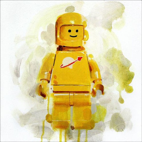 Lego minifigure Yellow spaceman print by James Paterson