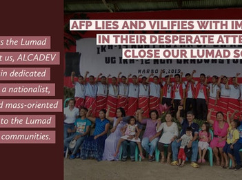 PNFSP CRITICIZE ANOTHER ATTEMPT TO DISCREDIT LUMAD SCHOOLS