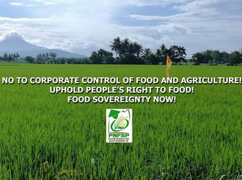 INCREASING HUNGER AND FOOD INSECURITY, A RESULT OF EXTREME CONTROL OF LARGE FOOD AND AGRICULTURAL CO