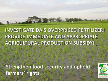INVESTIGATE DA's OVERPRICED FERTILIZER! PROVIDE IMMEDIATE AND APPROPRIATE PRODUCTION SUBSIDY TO