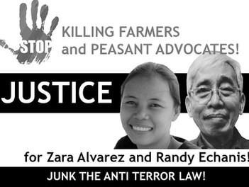 FARMERS AND PEASANT ADVOCATES, ENDANGERED! JUNK ANTI TERROR LAW!
