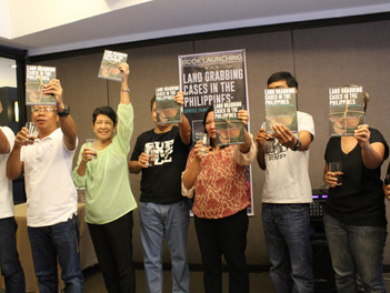 PNFSP launch book documenting land grabbing cases in the Philippines