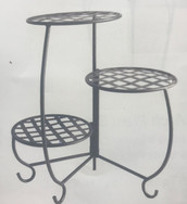 Foldable Weave Plant Stand - Black