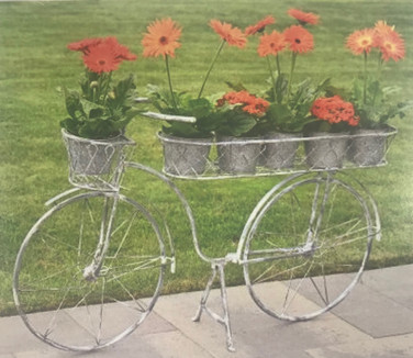 Bicycle Plant Stand - Grey