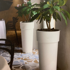 Duo Pot with Container- Black/White