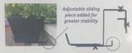 ADjustable Railing Flower Box Bracket
