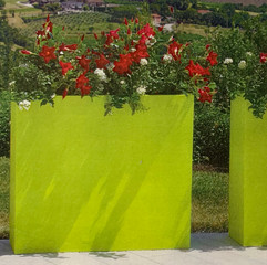Kube High Slim High Plant Box - Charcoal