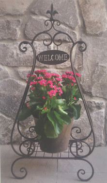 Welcome Patio Plant Stand - Black