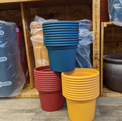 Geo Pot - Charcoal/Blue/Red/Yellow