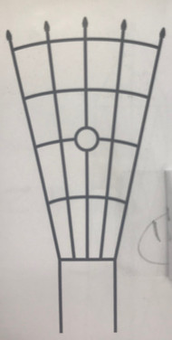 Fan Circle Trellis - Black