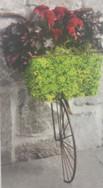 Half Bicycle Wall Planter - Bronze