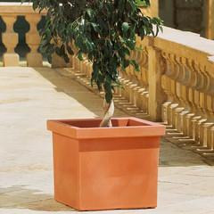 Siepi Square Pot - Charcoal