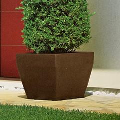 Akan Square Pot - Charcoal