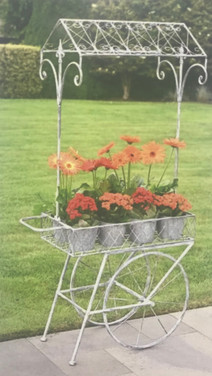 Rolling Flower Cart - Grey