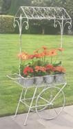 Rolling Flower Cart - Grey