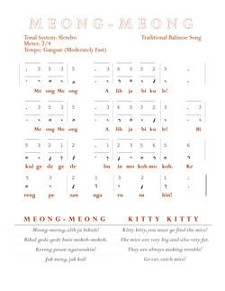 Meong-Meong Balinese Notation