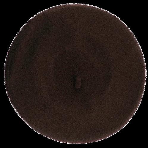Wool Beret-Dark Brown