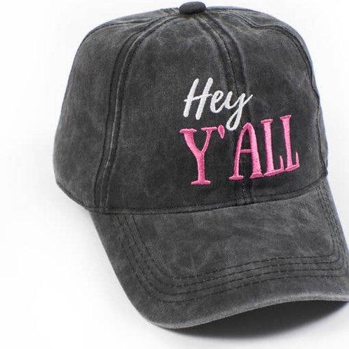 """Hey Y'all"" Hat"