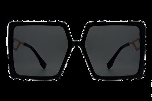 Square Oversize Fashion Sunglasses-Black