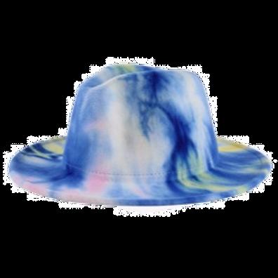 Tie Dye Fedora-Neon/Pink/Blue