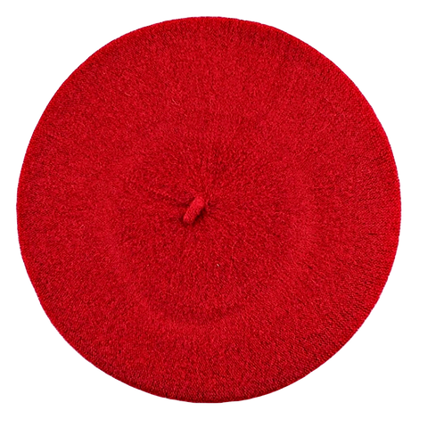 Wool Beret-Red