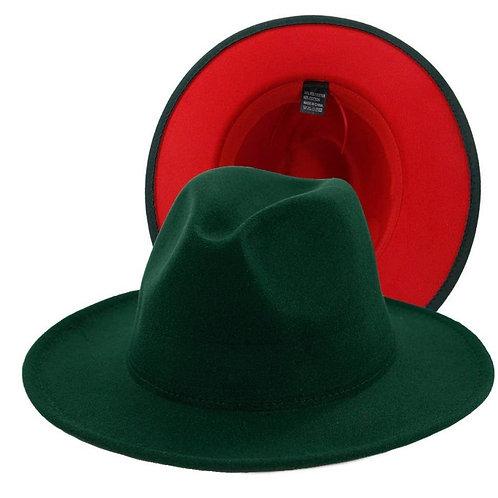 Emerald Green Red Bottom Fedora