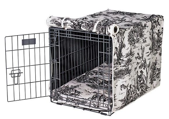 Onyx Toile Crate Cover