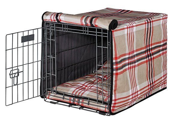Turnberry Plaid Crate Cover