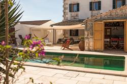 Construcción piscina obra nueva casa rural Mallorca