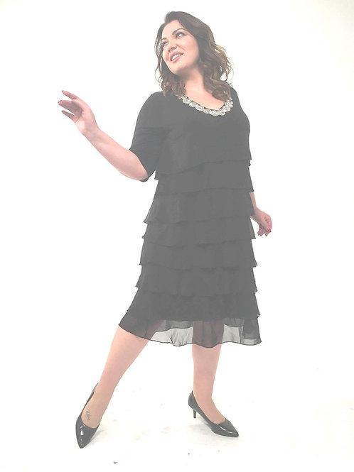 платье со стразами большого размера