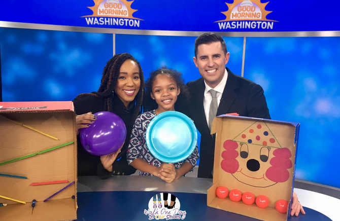 Good Morning Washington:  Indoor Snow Day Activities with Household Items