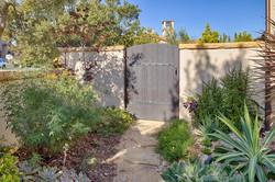 Side yard with gate