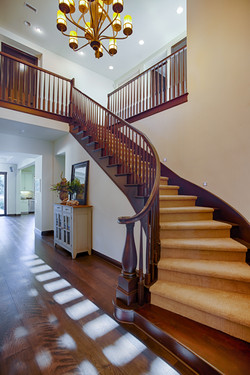 Dramatic spiral staircase